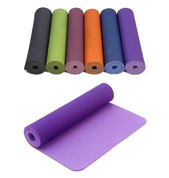 Violeta y lilas TPE ecológico estera de Yoga Pro ...