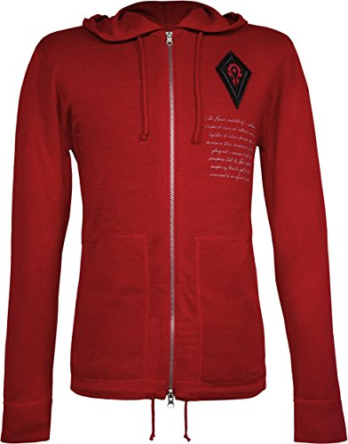 Musterbrand World of Warcraft Men Knit Cardigan Horde's Rage Red