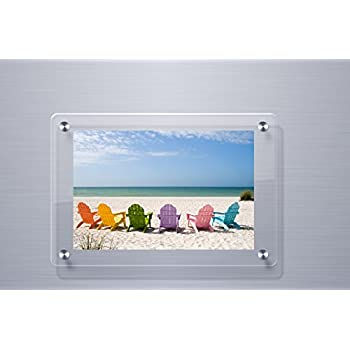 Amazon.com - Modern Double Panel Floating Standoff Acrylic Picture ...