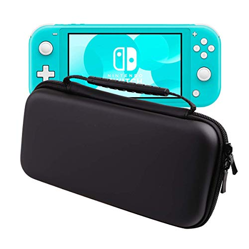 HAO HONG Nintendo Switch Lite Travel Carrying Case Holds 8 Video Game Cards, 2 Joy-Con Controllers | Water, Scratch, Dust and Shock Proof Protective Storage(New Black)