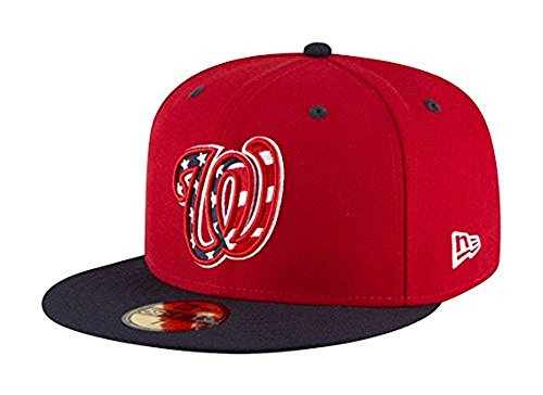 New Era 59Fifty Hat Washington Nationals MLB 2017 Alternate Red/Blue Fitted Cap (7 3/8)