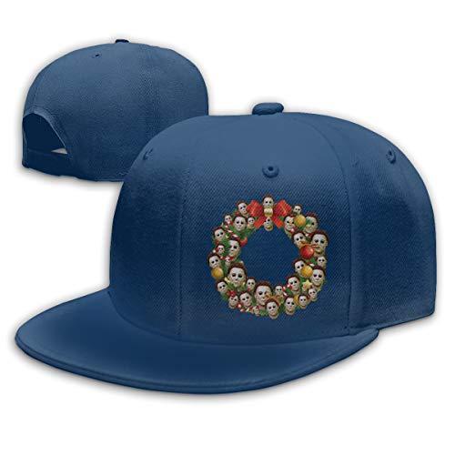 Michael Myers Halloween Multiface Christmas Wreath Summer Cool Heat Shield Unisex Baseball Cap -