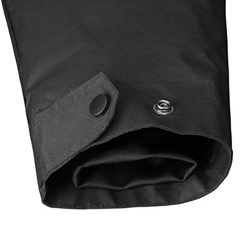 HARD LAND Mens Waterproof Down Parka Jacket Heavy Winter Coat Snowboard Jacket With Removable Hood Black Size XXXL by HARD LAND (Image #4)