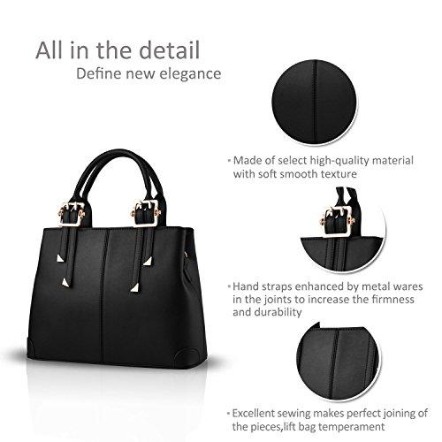 fashion messenger Green ladies portable handbag Black bag bag casual New ADOO 2017 purse for shoulder qCaxgwwAE