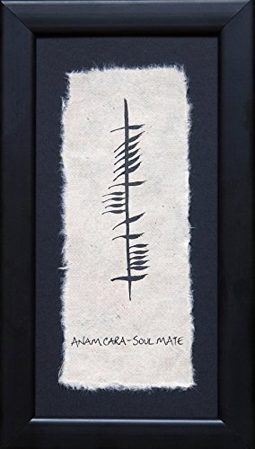 Hand Painted Ogham Wishes from Ireland - Soul Mate / Anam Cara. Ogham is the ancient writing often found carved on stones throughout the Irish landscape - Ancient Stone Frame