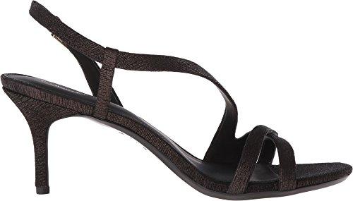 Calvin Klein Womens Lorren Dress Sandal Tin Foil In Pelle Scamosciata