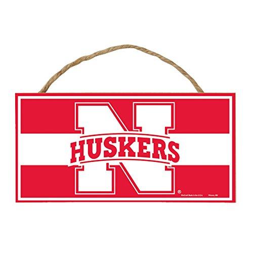 WinCraft NCAA Nebraska Cornhuskers Hardboard Wood Signs with Rope, 5 x 10-Inch, -