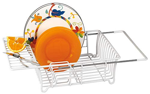 Better Houseware Adjustable Over Sink Dish Drainer in White