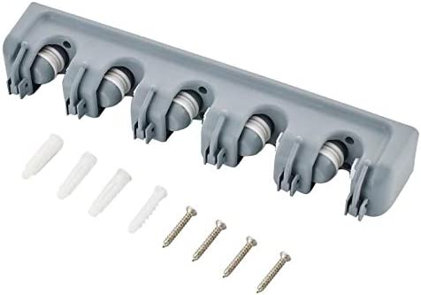 2 5//4//3 posi/ç/ão montado na parede mop titular escova cabide de armazenamento escova de pl/ástico vassoura rack de