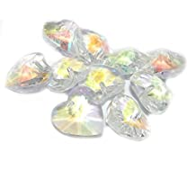 Pro Jewelry (Pack of 10) Faceted Crystal AB Heart Glass Jewelry Making Beads