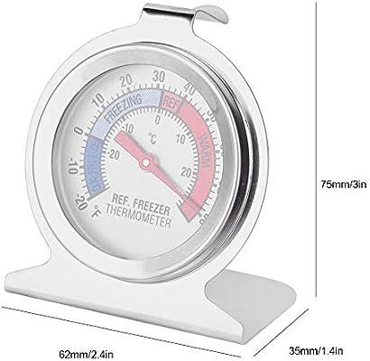 Acero inoxidable Gran dial Congelador Refrigerador Termómetro ...