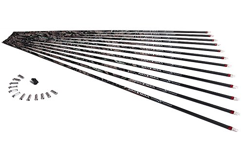 Carbon Express Maxima Hunter BuffTuff Carbon Arrow Shaft, Size 250, 12-Pack, Mossy Oak Treestand Pattern - Maxima Hunter 250 Shaft