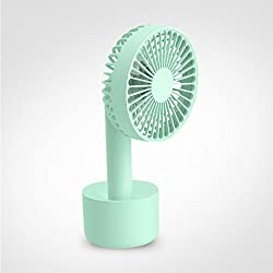 Besplore Mini USB Portable Fan Rechargeable Handheld and Desk Fan, Cool, Green