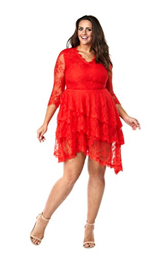 Red Tiered Dress - 8