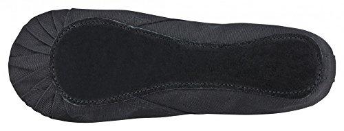 Zapatillas de ballet - Lino, suela entera de cuero - Blanco/negro/rosa albaricoque Negro