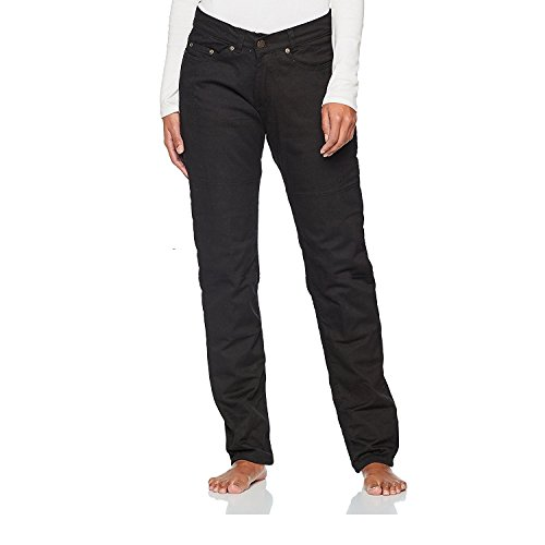 Bikers Gear Australia Ladies Black Stretch Denim Kevlar Lined Protective Motorcycle Jeans with Removable CE1621-1 Armour