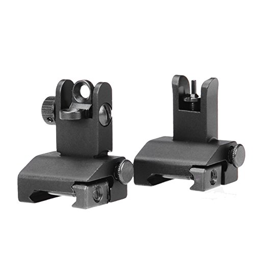 SOUFORCE AR 15 Backup Iron Sight, Flip Up Rapid Transition (Spring Front Sight)