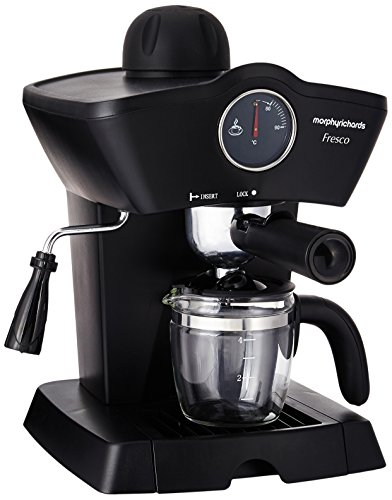 Morphy Richards Fresco 800-Watt 4-Cups Espresso Coffee Maker (Black)