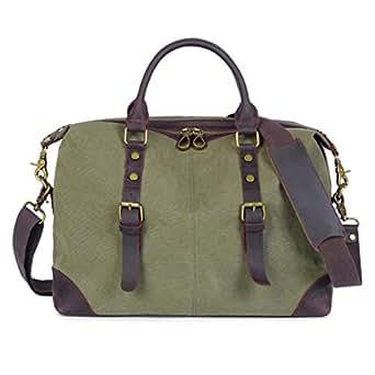 Mens Bag Handbag Male Men Leisure Xiekua Package Outdoor Travel Bag Canvas Bag Shoulder Bag Shoulder Bag High capacity (Color : ArmyGreen)