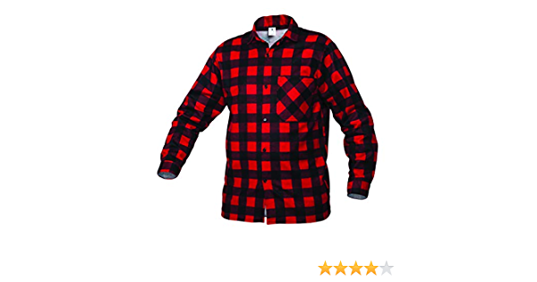 Gahibre 512 Camisa franela roja, 100% algodón 170 gramos