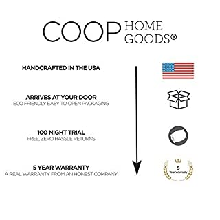 """Coop Home Goods - Breathable Ultra Soft Noiseless Pillowcase - Patented Lulltra Fabric from Bamboo Derived Viscose Rayon and Polyester Blend - Oeko-Tex Certified - Queen Size 20""""x 30"""""""