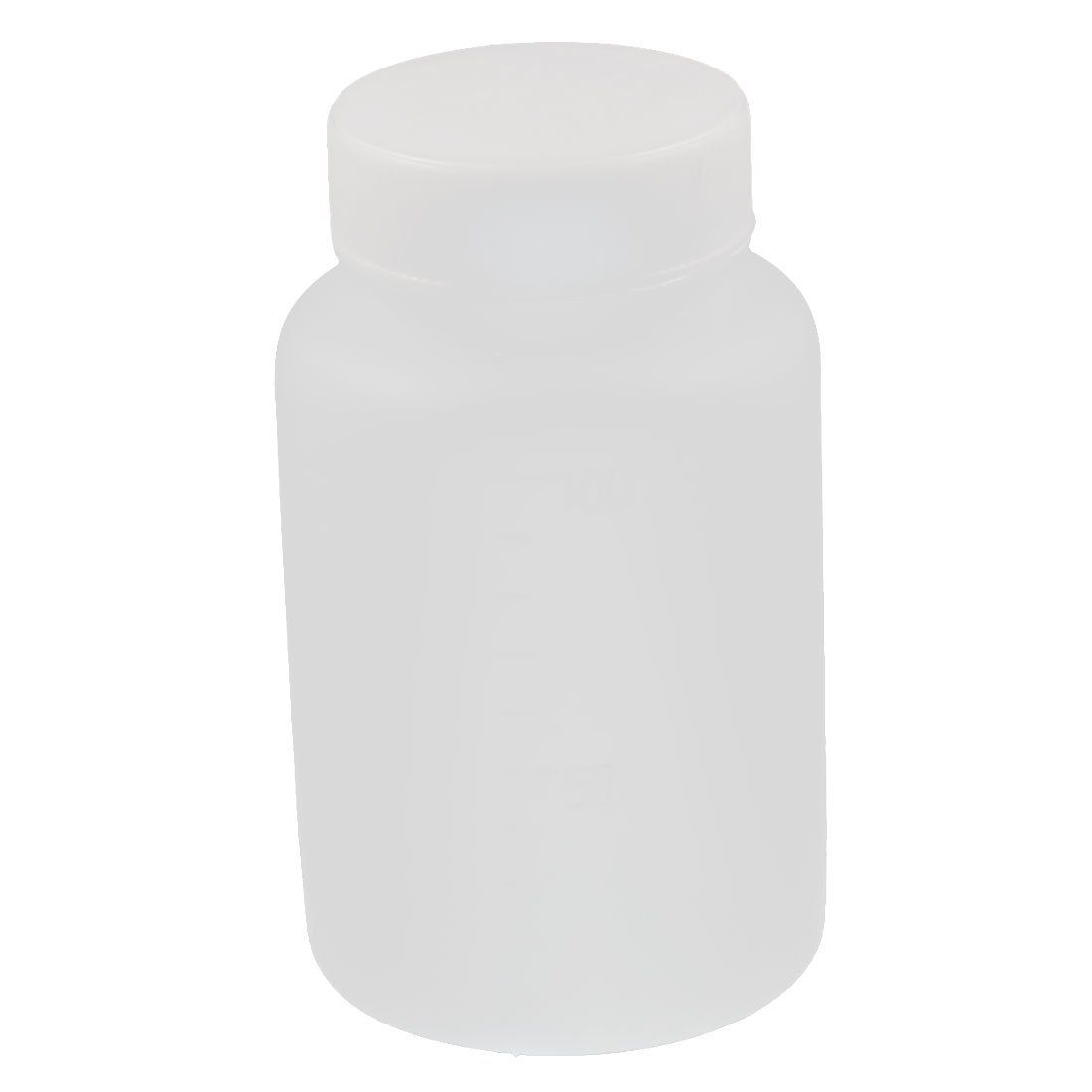 sourcingmap 100ml Plastic Wide Mouth Laboratory Reagent Bottle Sample Sealing Bottle White a16082700ux0327