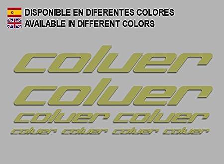 Ecoshirt UC-H7OK-AEHK Pegatinas Coluer F214 Stickers Aufkleber Decals Adesivi Bike MTB BTT Cycle, Gold