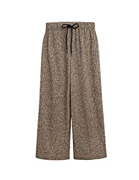 Wicky LS Women's Drawstring Waist Wide Leg Pants with Pockets