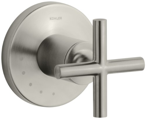 KOHLER K-T14490-3-BN Purist Volume Control Valve Trim, Vibrant Brushed Nickel