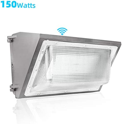 WYZM 150W LED Wall Pack Light with Dusk-to-Dawn Photocell,18000lm, 5700K Daylight,Outdoor Commercial and Industrial Lighting,600-800W HPS HID Replacement