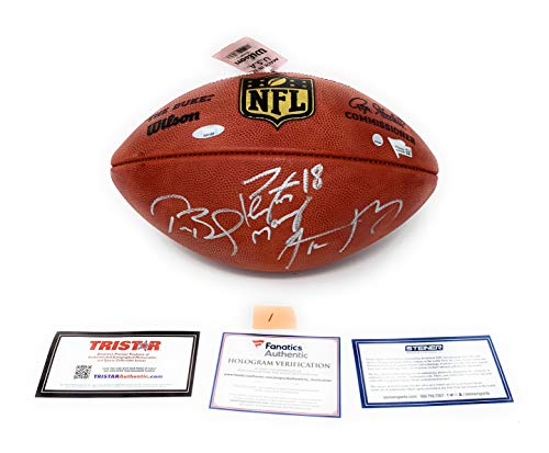 Tom Brady Aaron Rodgers Peyton Manning TRIPLE Signed Autograph NFL Authentic Duke NFL Football Steiner Sports Tristar Fanatics Certified #1
