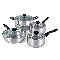 Oster Rametto 8 Piece Stainless Steel Cookware Set