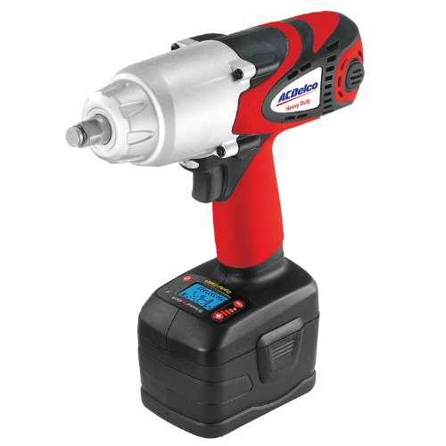 ACDelco ARI2060 Li-ion 18V 1 2-inch Super-Torque Impact Wrench with Digital Clutch, 500 ft-lbs, 2 battery included, ETC Tool