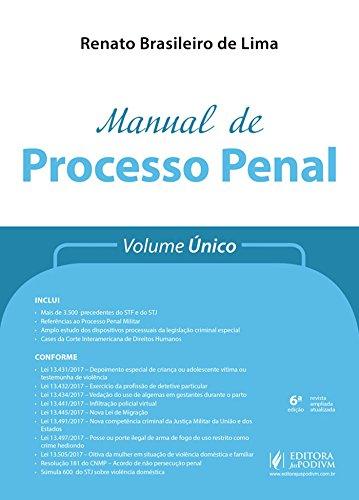 Manual de Processo Penal: Volume único
