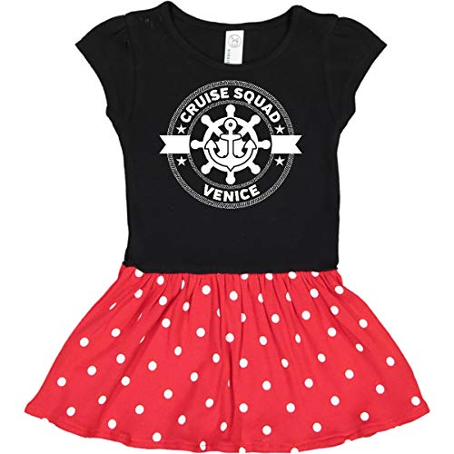 inktastic Venice Italy Cruise Infant Dress 6 Months Black & Red with Polka Dots