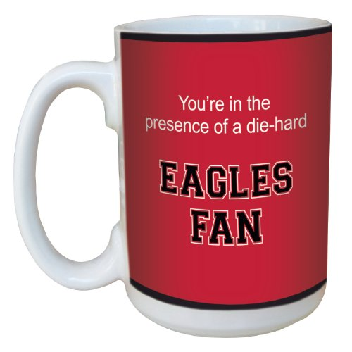 Tree-Free Greetings lm44431 Eagles College Football Fan Ceramic Mug with Full-Sized Handle, - Eagles Football Stuff