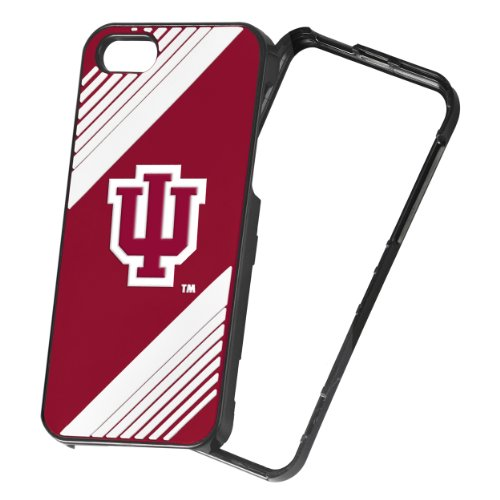 Forever Collectibles NCAA 2-Piece Snap-On iPhone 5/5S Polycarbonate Case - Retail Packaging - Indiana Hoosiers