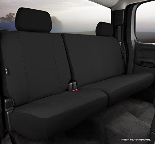 Fia SP82-37 BLACK Custom Fit Rear Seat Cover Split Seat 60/40 - Poly-Cotton, (Black) ()