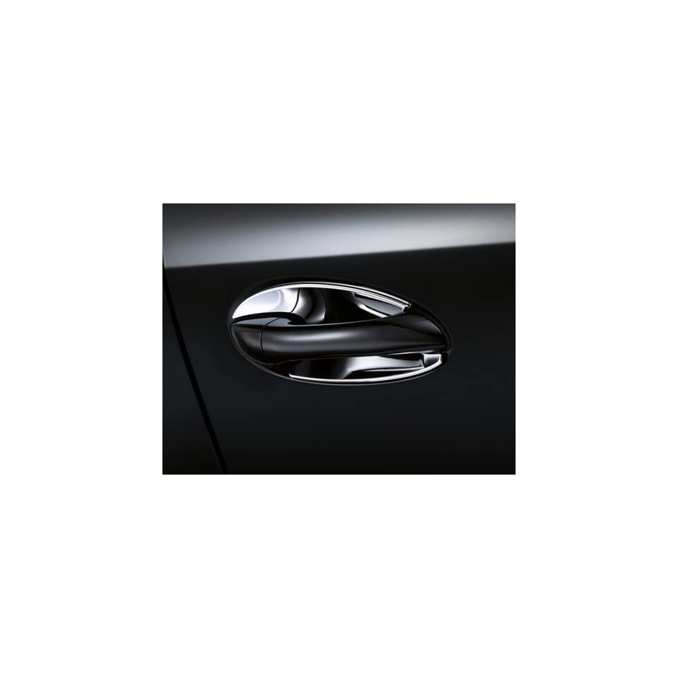 Mercedes Benz Genuine OEM Chrome Door Handle Recess Covers 2010 to 2014 E Class Sedan
