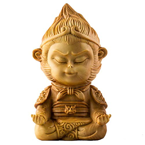 (Tuersuer Resin Ornament Craft Decor Traditional Chinese Wood Carving Statue,Sculpture Decor Table Centerpiece Home Furnishing Crafts Home Decoration Office Ornament (Color : A))