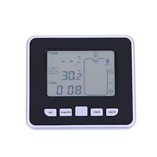 (Sammid Liquid Depth Thermometer, Wireless Ultrasonic Tank Liquid Depth Level Meter with Temperature Thermo Sensor Water Level Gauge Digital Level Measuring)