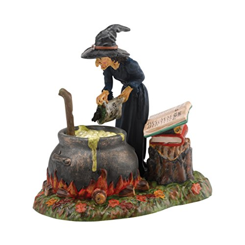 Department 56 Snow Village Halloween Fire Burn and Cauldron Bubble Accessory Figurine]()