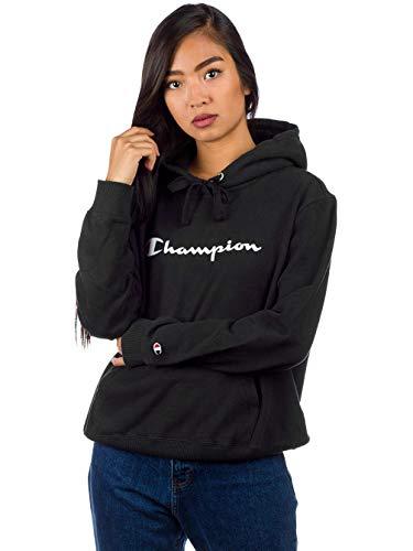 Mujer Con Capucha nbk Sudadera Kk001 Hooded Sweatshirt Champion Negro Reverse Weave Para qHYXX8