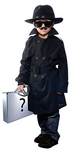 [Aeromax Jr. Secret Agent with Accessories, Size Small OSFM Ages 5-8] (Jr Secret Agent Kids Costumes)