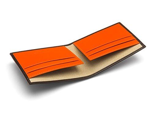 SAGEBROWN Soft Billfold Men's Soft Wallet Leather Billfold With SAGEBROWN Orange Men's Leather Brown wnWUpFfwqx