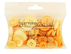 Buttons Galore CB103 Color Blend Buttons, 3-Ounce, Mango Madness, 3 Shades of Mango