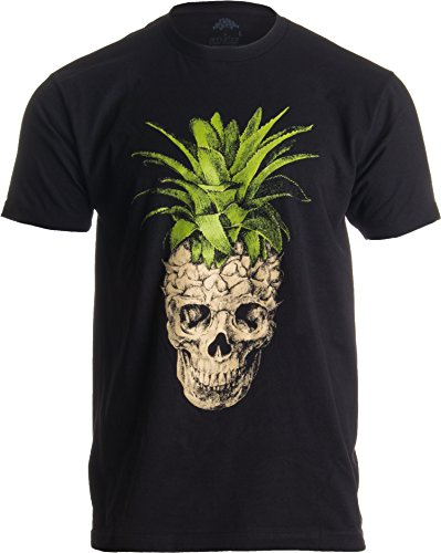 Pineapple Skull | Bizarre Goth Creepy Weird Fruit Illustration Art Men's ()