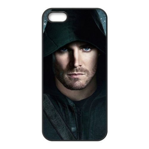 Green Arrow Man coque iPhone 4 4S cellulaire cas coque de téléphone cas téléphone cellulaire noir couvercle EEEXLKNBC25487