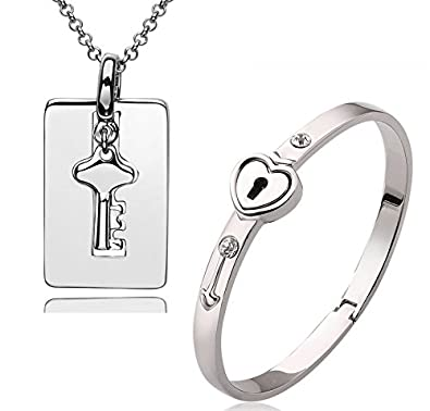 Partnerschmuck  Partnerschmuck Armband + Anhänger Schlüssel und Schloss von ...