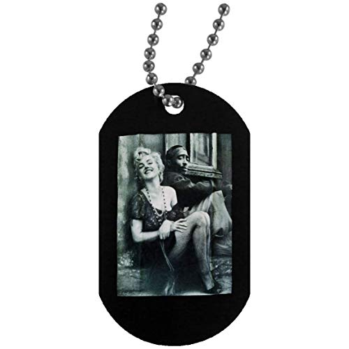 Kidoba Tupac Marilyn Monroe Couple TemplateType=fptcustoms Hiphop Legend (Large) (Dog Tag Military Necklace Army Dog Tags for Mens; Black; One Size)